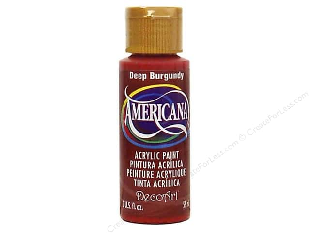 DecoArt Americana Acrylic Paint 2 oz. #128 Deep Burgundy