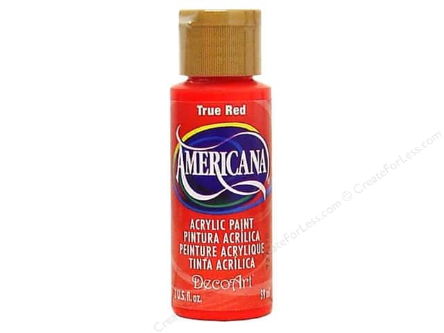 DecoArt Americana Acrylic Paint 2 oz. #129 True Red