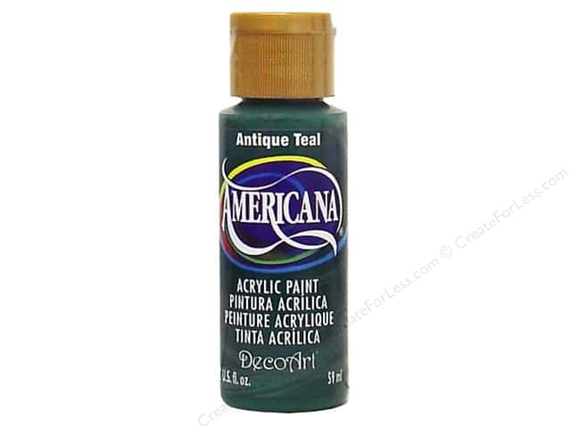 DecoArt Americana Acrylic Paint 2 oz. #158 Antique Teal