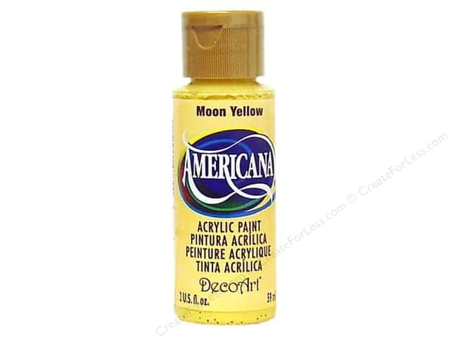 DecoArt Americana Acrylic Paint 2 oz. #07 Moon Yellow