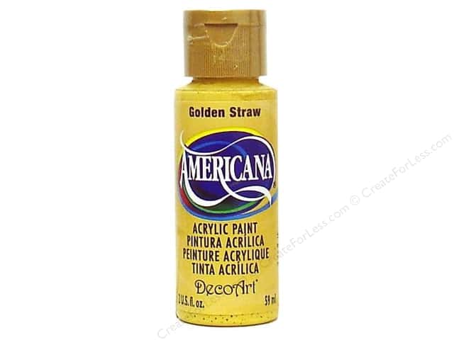 DecoArt Americana Acrylic Paint 2 oz. #168 Golden Straw
