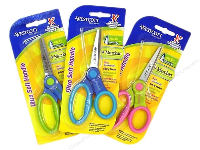 "Westcott Scissor 5"" Microban Soft Handle Pointed Assorted"