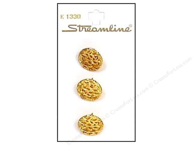 Streamline K Series Buttons 5/8 in. Gold Filigree #1330 3 pc.