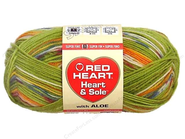 Red Heart Heart & Sole Yarn  #3940 Green Envy