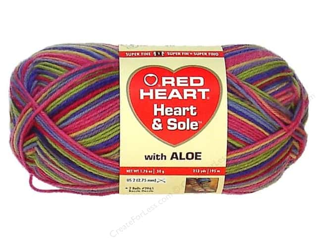 Red Heart Heart & Sole Yarn #3960 Spring Stripe 213 yd.
