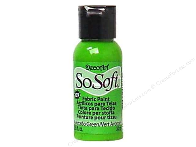 DecoArt SoSoft Fabric Paint 1.15 oz. Avocado Green