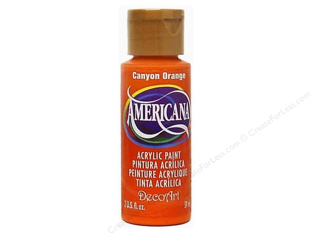DecoArt Americana Acrylic Paint 2 oz. #238 Canyon Orange