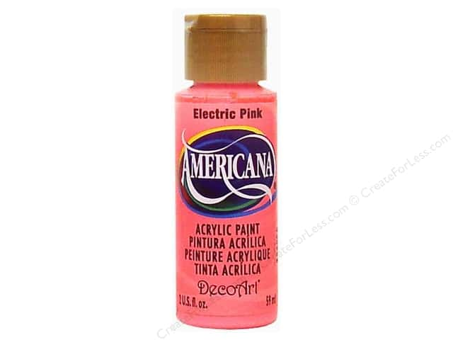DecoArt Americana Acrylic 2oz Electric Pink