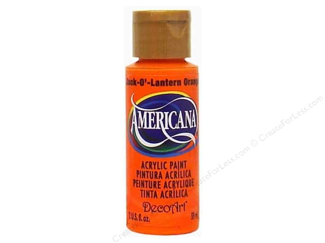 DecoArt Americana Acrylic Paint 2 oz. #229 Jack-o'-Lantern Orange