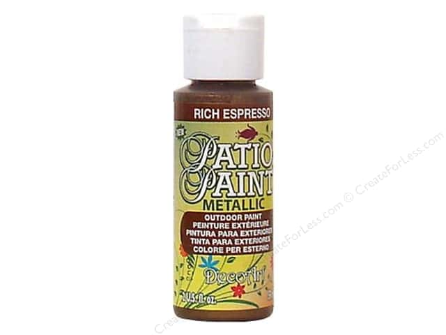 DecoArt Patio Paint 2oz Metallic Rich Espresso