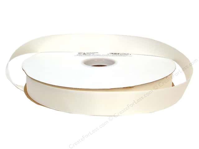 "Offray Ribbon Doubleface Satin 7/8"" Antique White (100 yards)"