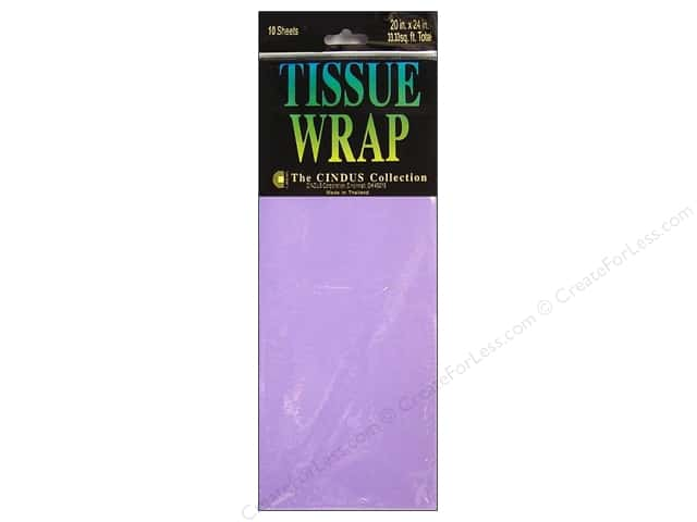 "Cindus Tissue Wrap 20""x 20"" Solid Lavender 10pc"