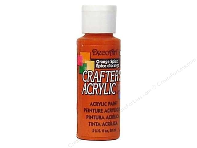 DecoArt Crafter's Acrylic Paint 2 oz. #119 Orange Spice