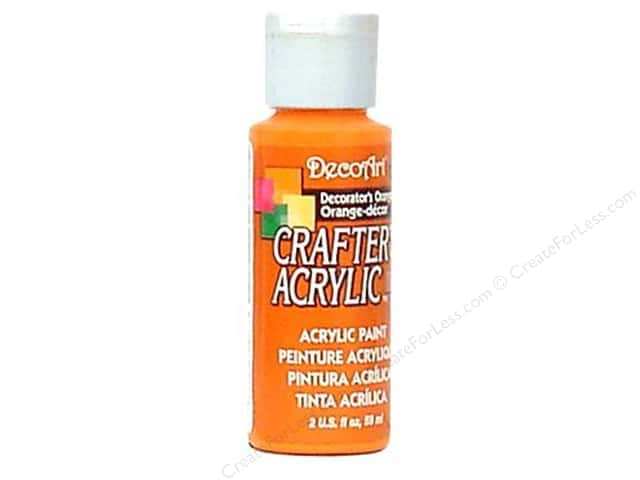 DecoArt Crafter's Acrylic Paint 2 oz. #127 Decorator's Orange