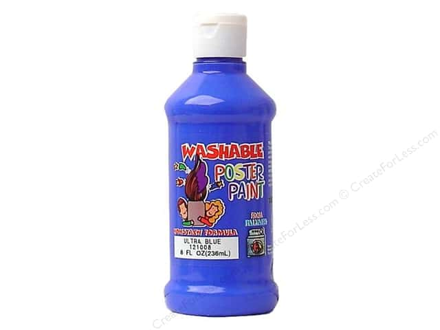 Palmer Washable Poster Paint 8oz Ultra Blue
