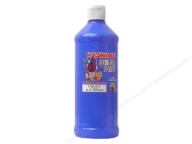 Palmer Washable Poster Paint 16oz Ultra Blue