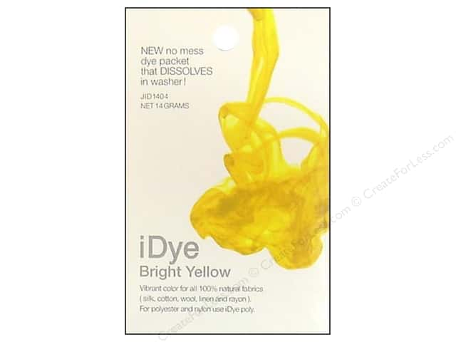 Jacquard iDye Natural Fabrics Bright Yellow 14 grams
