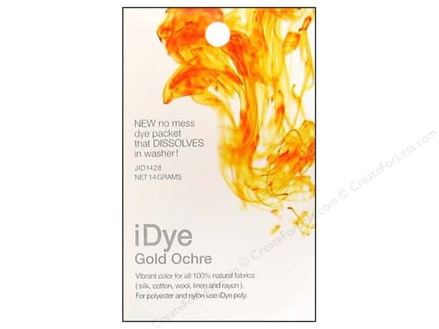 Jacquard iDye Natural Fabrics Gold Ochre 14 grams