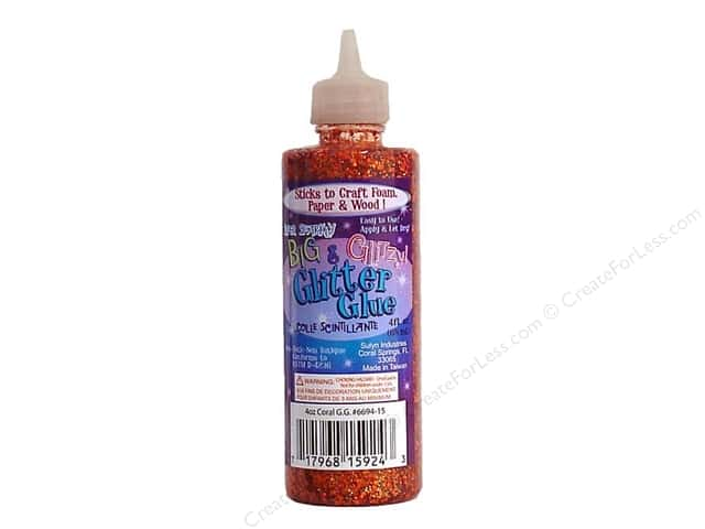 Sulyn Glitter Glue 4oz Big & Glitzy Coral