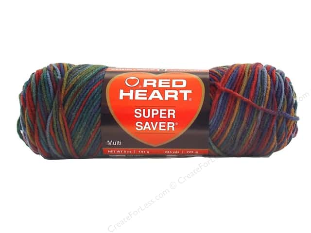 Red Heart Super Saver Yarn #0788 Williamsbg Print 5 oz.