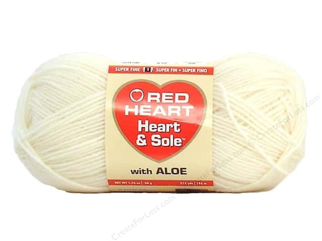 Red Heart Heart & Sole Yarn #3115 Ivory 213 yd.