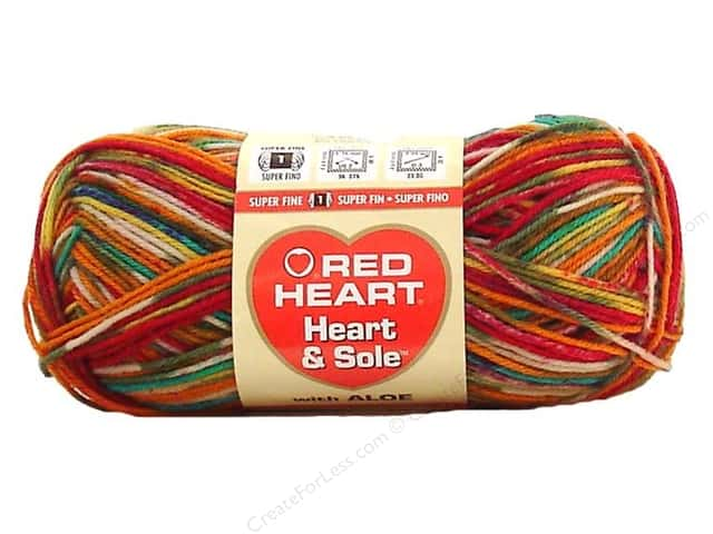 Red Heart Heart & Sole Yarn  #3965 Razzle Dazzle