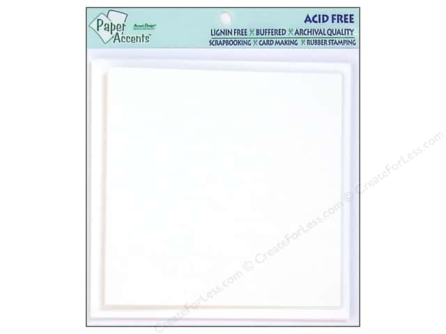 5 x 5 in. Blank Card & Envelopes by Paper Accents 5pc. White