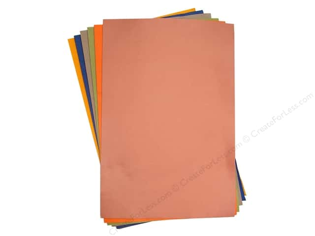 "National Nonwovens WoolFelt 12""x 18"" 20% Comfort Colors (12 sheets)"