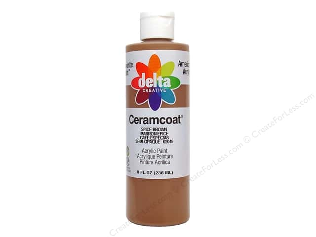 Delta Ceramcoat Acrylic 8oz Spice Brown