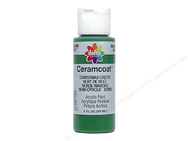 Ceramcoat Acrylic Paint by Delta 2 oz. Christmas Green