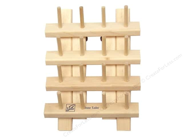 June Tailor Organizer Bobbin Rack Wood 16 Peg with Legs