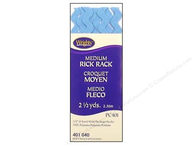 Wrights Rick Rack Medium 2 1/2 yd. Delft