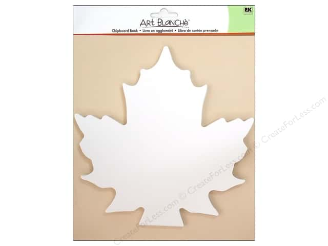 EK Art Blanche Chipboard Book Maple Leaf