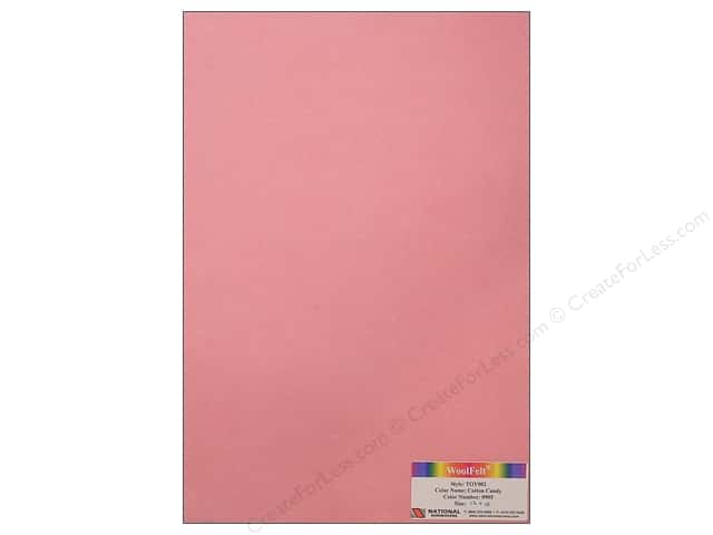 "National Nonwovens WoolFelt 12""x 18"" 35% Cotton Candy (12 sheets)"