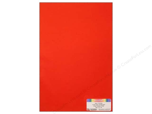 National Nonwovens WoolFelt 12 x 18 in. 35% Bright Red (12 sheets)