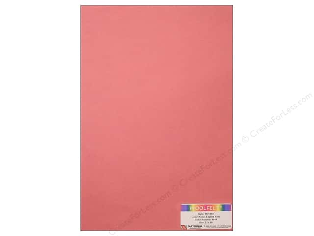 National Nonwovens WoolFelt 12 x 18 in. 35% English Rose (12 sheets)