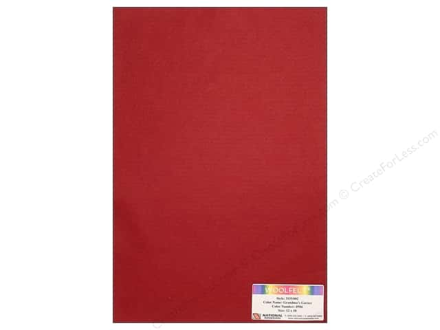 National Nonwovens WoolFelt 12 x 18 in. 35% Grandmas Garnet (12 sheets)