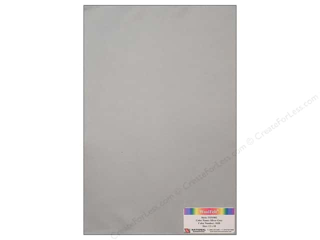 National Nonwovens WoolFelt 12 x 18 in. 35% Silver Grey (12 sheets)