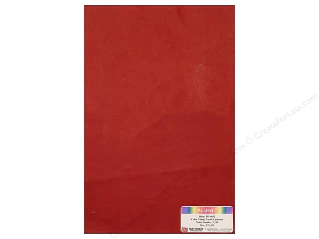 National Nonwovens WoolFelt 12 x 18 in. 35% Rustic Crimson (10 sheets)