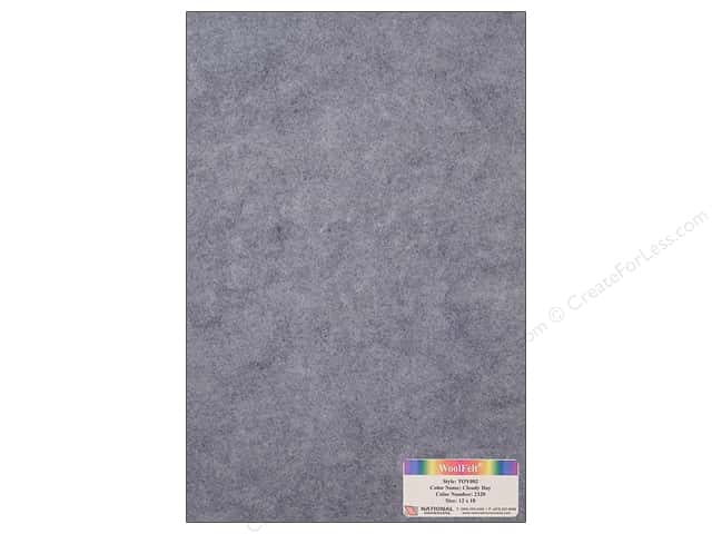 "National Nonwovens WoolFelt 12""x 18"" 35% Cloudy Day (12 sheets)"