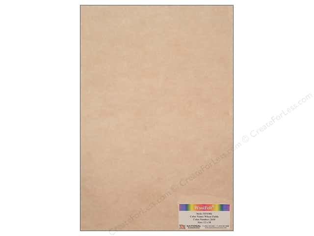 National Nonwovens WoolFelt 12 x 18 in. 35% Wheat Fields (12 sheets)