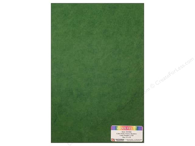 "National Nonwovens WoolFelt 12""x 18"" 35% Grassy Meadows (12 sheets)"