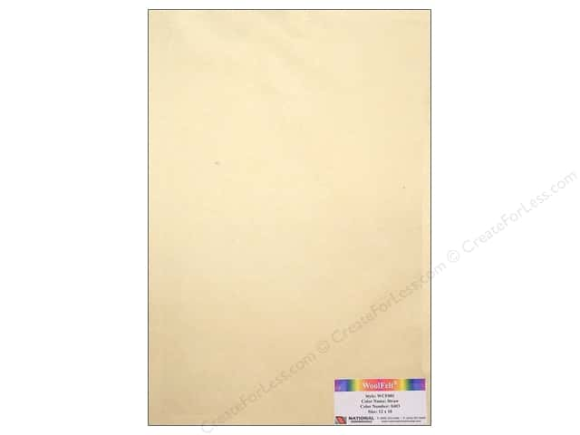 National Nonwovens WoolFelt 12 x 18 in. 20% Straw (12 sheets)