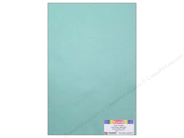 National Nonwovens WoolFelt 12 x 18 in. 20% Baby Blue (10 sheets)