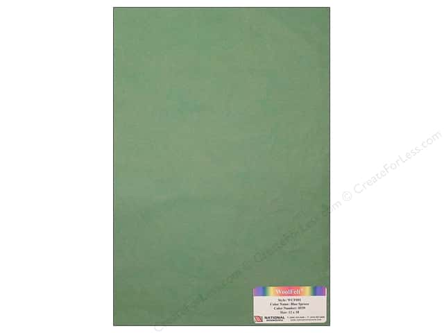 National Nonwovens WoolFelt 12 x 18 in. 20% Blue Spruce (12 sheets)