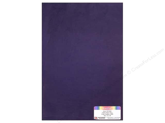 National Nonwovens WoolFelt 12 x 18 in. 20% Navy (12 sheets)