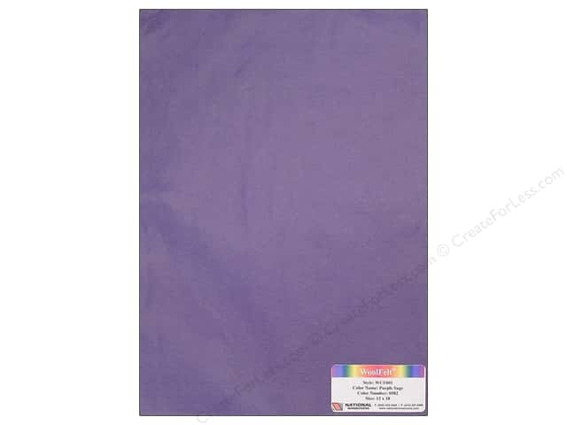 "National Nonwovens WoolFelt 12""x 18"" 20% Purple Sage (12 sheets)"