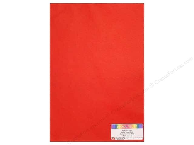 National Nonwovens WoolFelt 12 x 18 in. 20% Red (12 sheets)