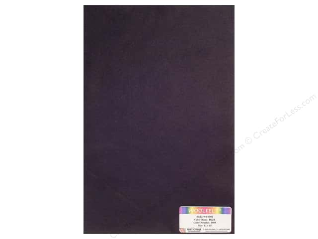 "National Nonwovens WoolFelt 12""x 18"" 20% Black (12 sheets)"