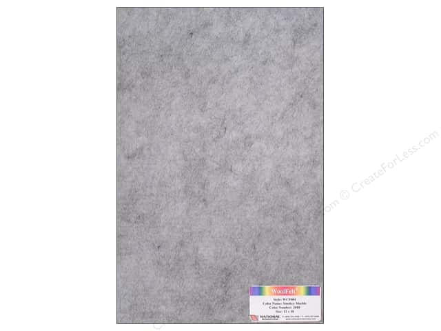 "National Nonwovens WoolFelt 12""x 18"" 20% Smokey Marble (12 sheets)"